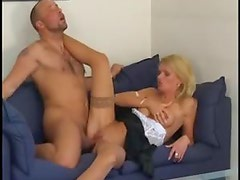 Sexy professional looking blonde hardcore sex