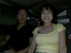 Playing with Big Breasted Japanese Hoe Miho Tsujii's Boobs and Pussy in Car