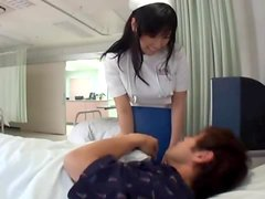 Horny patient and two sexy nurses fuck in hospital