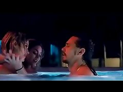 Vanessa Hudgens Threesome in Pool