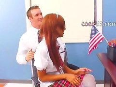 teenager in nylons seduces Director
