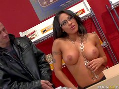Jenaveve Jolie is a flirtatious dark haired sexy lady with