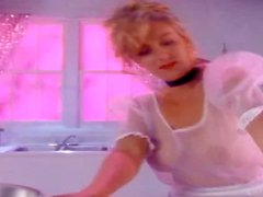 Pretty blonde Wendy Kaye is getting naughty in the kitchen