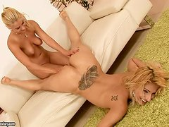 Ivory Bell gets fisted deep and hard by Nikky Thorne