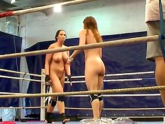 Hardcore scene with a naughty girls Eliska Cross and Lisa Sparkle in the fight club