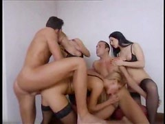 Erotic European orgy is tasty experience