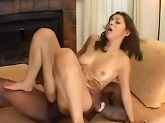 Black guys pull off a brief DP with her