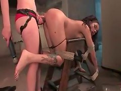 Long BDSM scene with lesbian mistress and sub