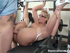 Super Big Tits Blonde Take Black Cock On Pink Pussy