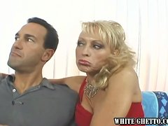 Big tittied blonde MILF gets fucked and creampied