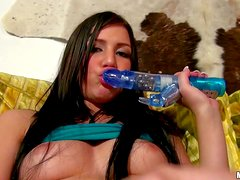 Black haired teen cutie Ava Cash shows her nice peirced