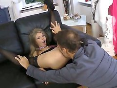 Dirty leashed whore Abby H gets her portion of deep hardcore anal from Rocco Siffredi!