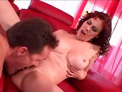 Happy mom with perfect round tits fucked hard