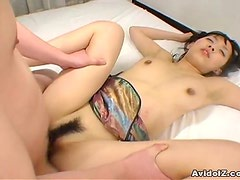 Teen babe Mami Kato filled with a creampie