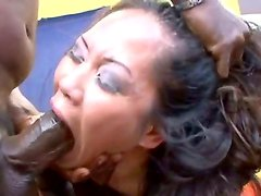 Asian bombshell Jessica Bangkok gets fucked rough and hard in the mouth, as she likes