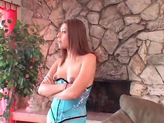 Seductive small tits girl in corset eaten out