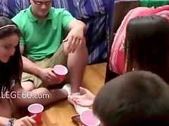 fine babes fucking in their college room