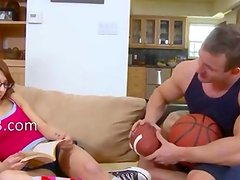 thin young girl has private trainer