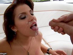 Angel Rivas shows her cock-sucking skills and gets her butt fucked