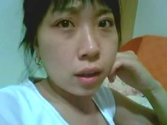 Korean Amateur honey gets balled and cummed on her cute face