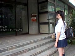 Japanese Cutie Gets Gangbanged When Caught Peeing Outdoors.