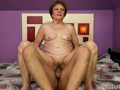Piros gets her elderly pussy fucked in all known positions