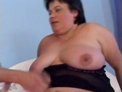 Sexy big belly of a brunette fucked lustily