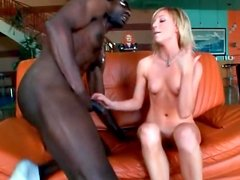 Monster black cock fucks skinny blonde girl