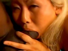 horny korean girl fucks with a black guy