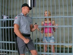 Kinky Convict Berinice Has Her Wet Pussy Drilled By An Officer