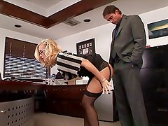 Hot secretary spanked and fucked at office