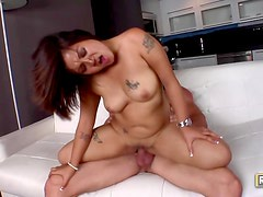 Curvy Latina goes home for anal sex