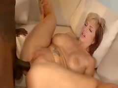 Girl with red and blonde hair fucked by BBC
