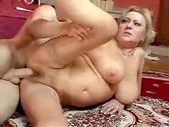Horny German lady gets naked with this petite dude