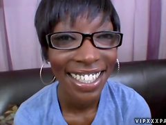 Ebony milf in glasses Taylor Starr is going nasty