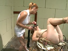 Torturing horny Laurah for a better behavior