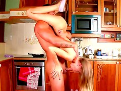 Glamorous cock sucker with pretty face is doing blowjob