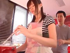 Japanese Housewife Fucked Hard In The Kitchen!