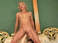 Mature blonde Yda toys her pussy and gets it fisted