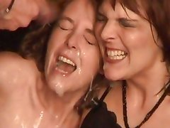 Dirty wives get gangbanged
