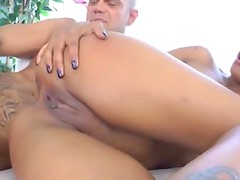 Hot Latina with tattoos anal sex with big cock