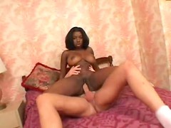 Hotel fuck with young black amateur and her big tits