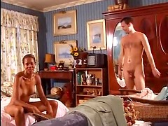 Come into the bedroom to see black girl suck cock