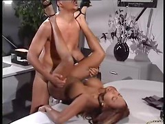 Office fuck with a blazing hot black chick