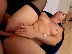 Cute milf babe with a lust for anal gets it hard