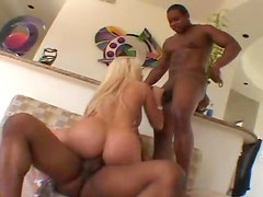 Black cock threesome with Gina Lynn