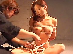 Tied redhead Japanese is getting humiliated