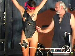 Alluring brunette is getting her pussy poked