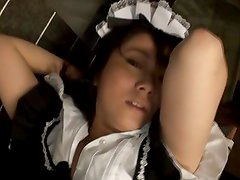 Asian maid having her pussy gouged