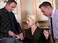 Job Interview With Lewd Blonde G...